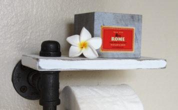 Ungewöhnliche Halter für Toilettenpapier selber machen mit Foto