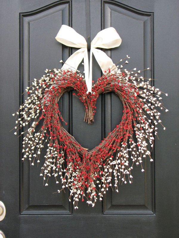 idea de corona de corazones