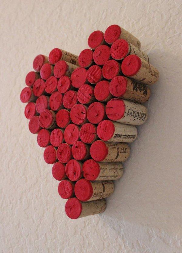 colgante de corcho de pared de corcho de vino rojo