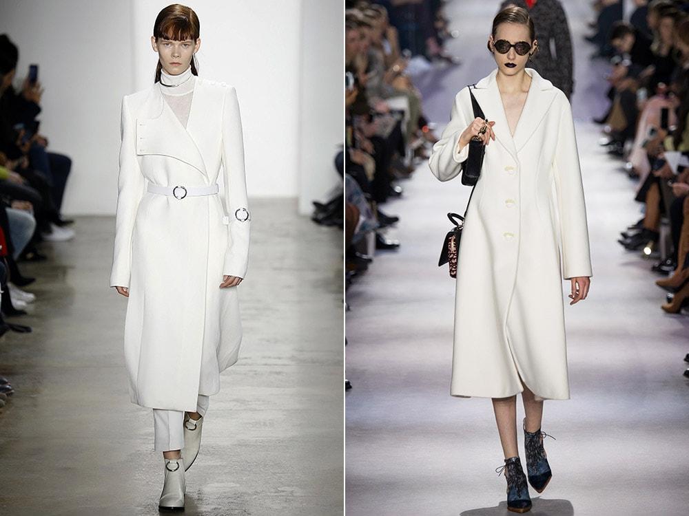 Exquisito abrigo blanco