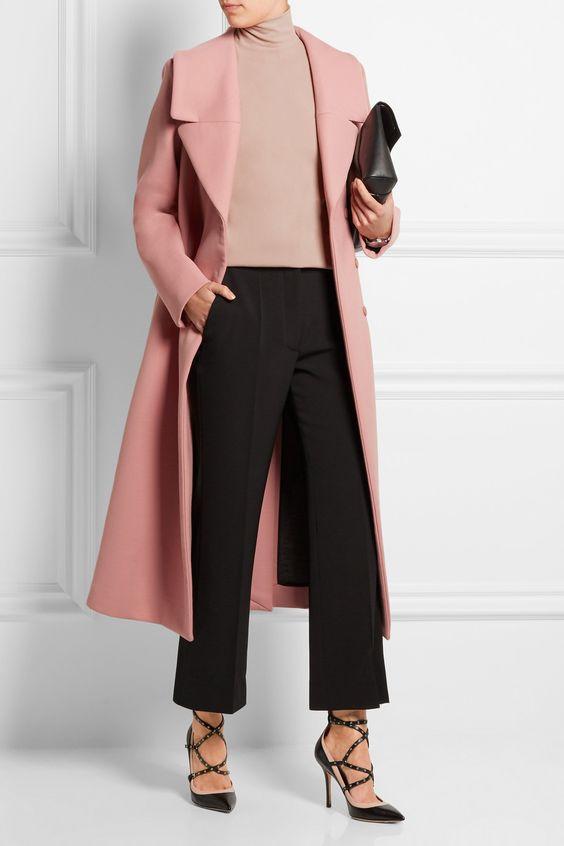 Abrigo en color rosa pastel