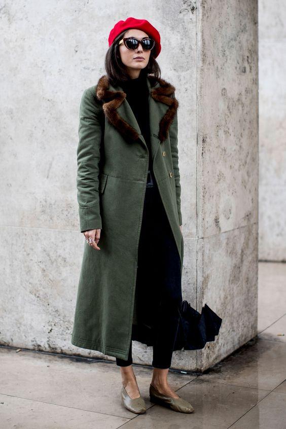 Elegante abrigo de moda