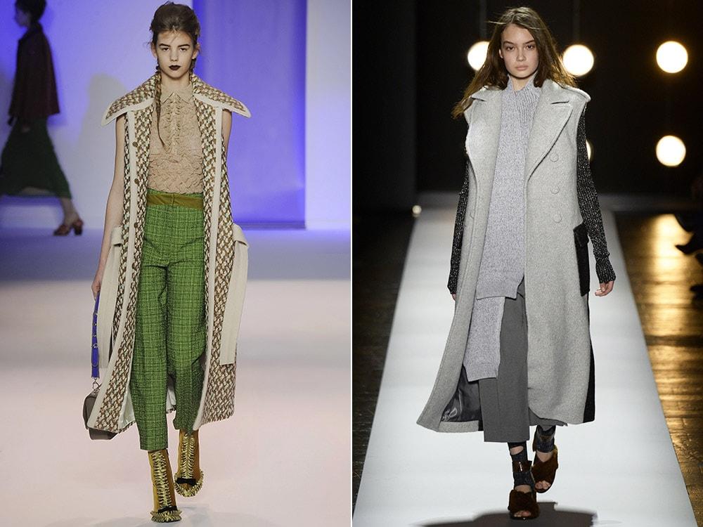 Abrigo de moda sin mangas