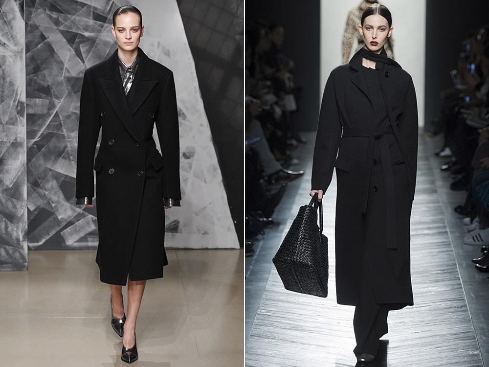 Elegante abrigo negro clásico