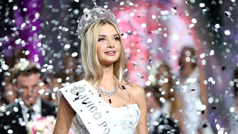 ganador de Miss Rusia 2017 Polina Popova