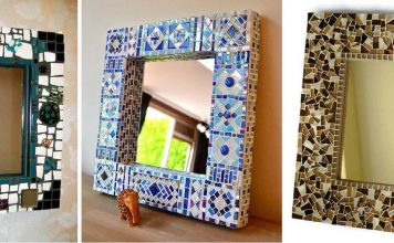 marco de espejo de mosaico