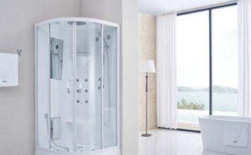 Transparente Dusche