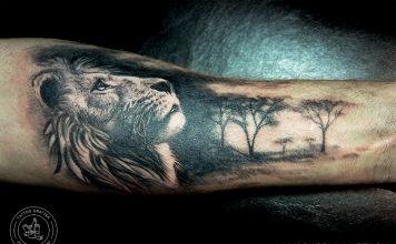 лъв татуировка
