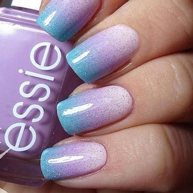Ombre biru dan ungu