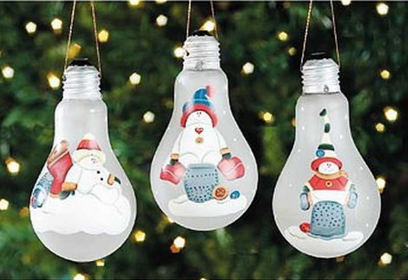 Luces de navidad pintadas