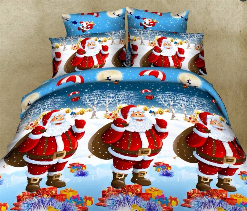 Спално бельо с Дядо Коледа