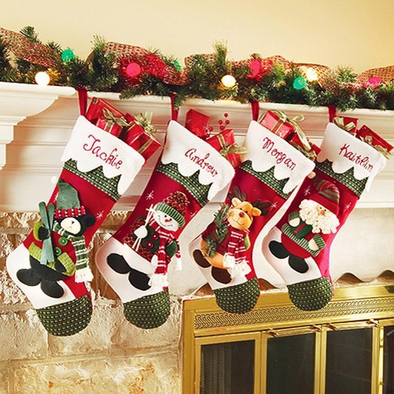 Calcetines de navidad brillantes