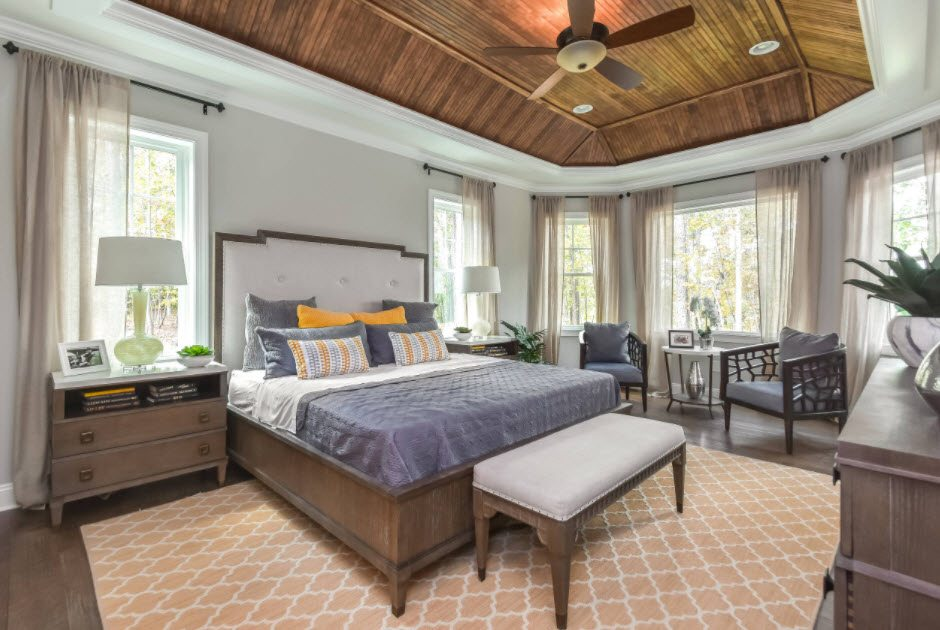 100 Color Combinations In The Interior Of The Bedroom In The Photo