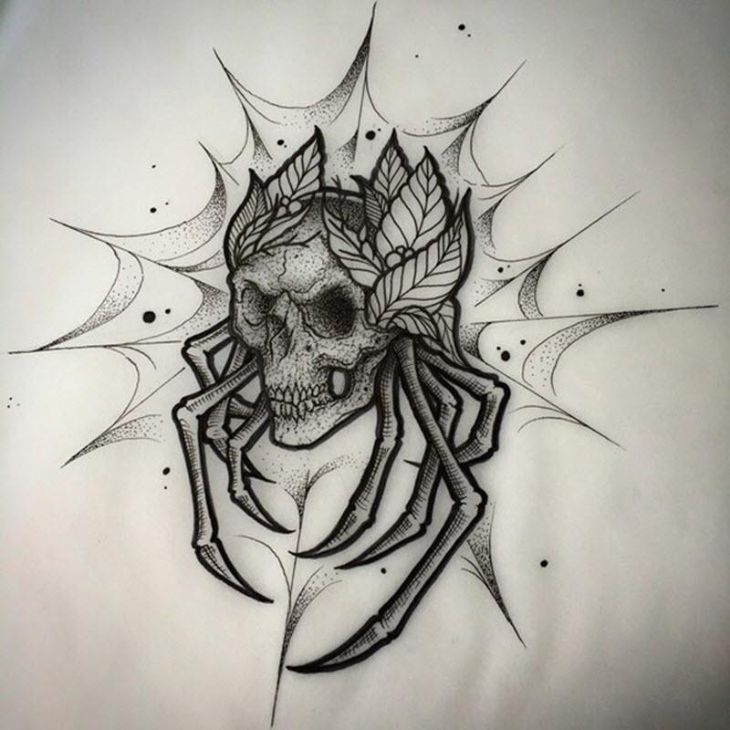паяжина с череп
