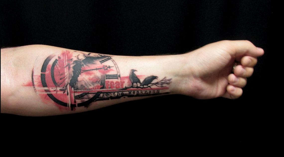 mužské tetování zápěstí
