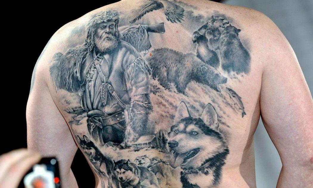 tetování obrázek na zadní straně