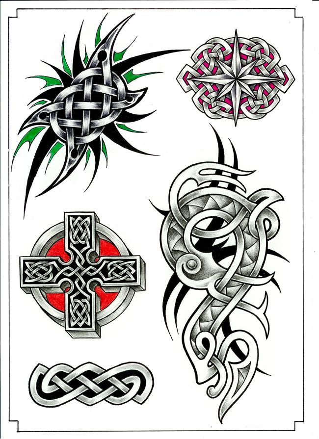 tetování kresba na krk