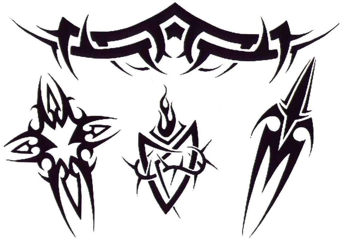 tetování skici pro mužský krk