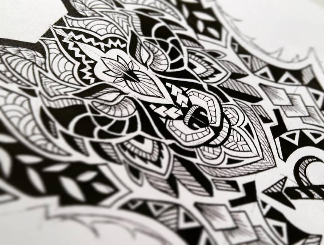 tetování skica pro rukávy