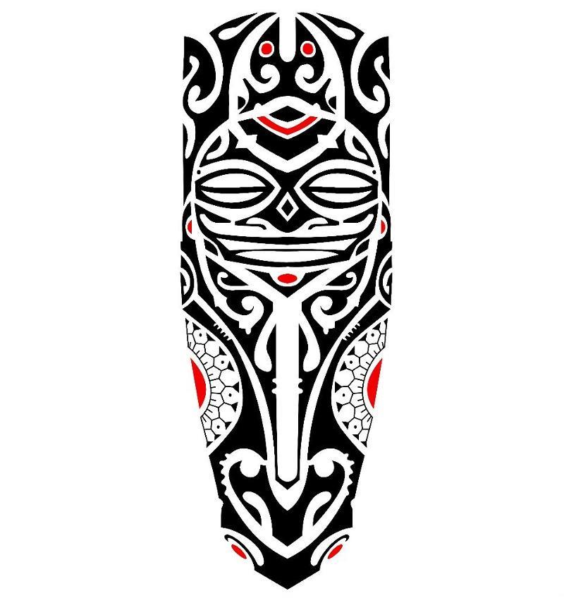 skica tetování rukáv