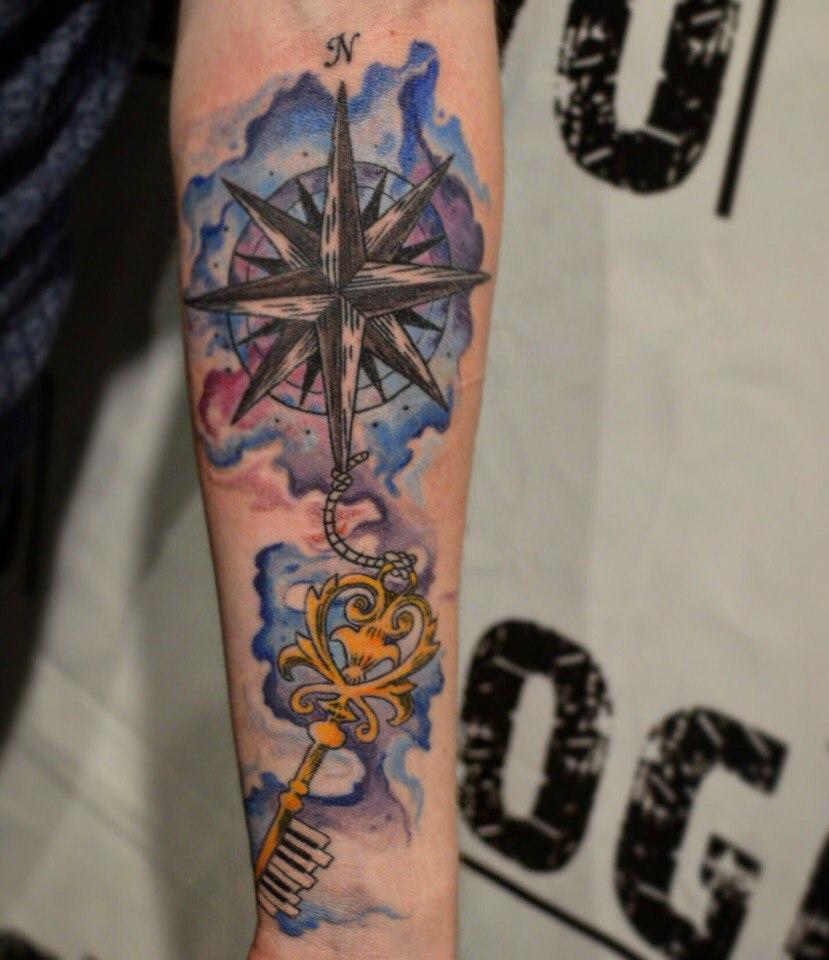 Tatuaż Windrose Ponad 100 Pomysłów Na Zdjęciu Wartość Szkice
