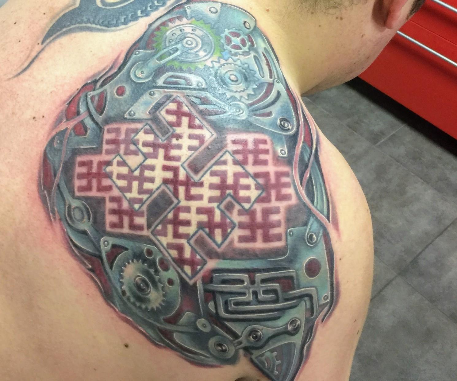 Como Escolher Tatuagem Homem tatuagem biomecânica: 100 fotos, esboços, locais de aplicação