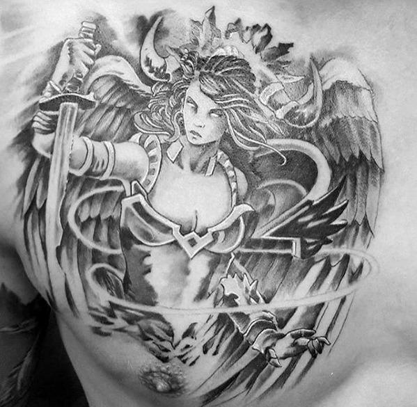Valkyrie tattoo: 100+ halimbawa ng larawan, sketch, ibig